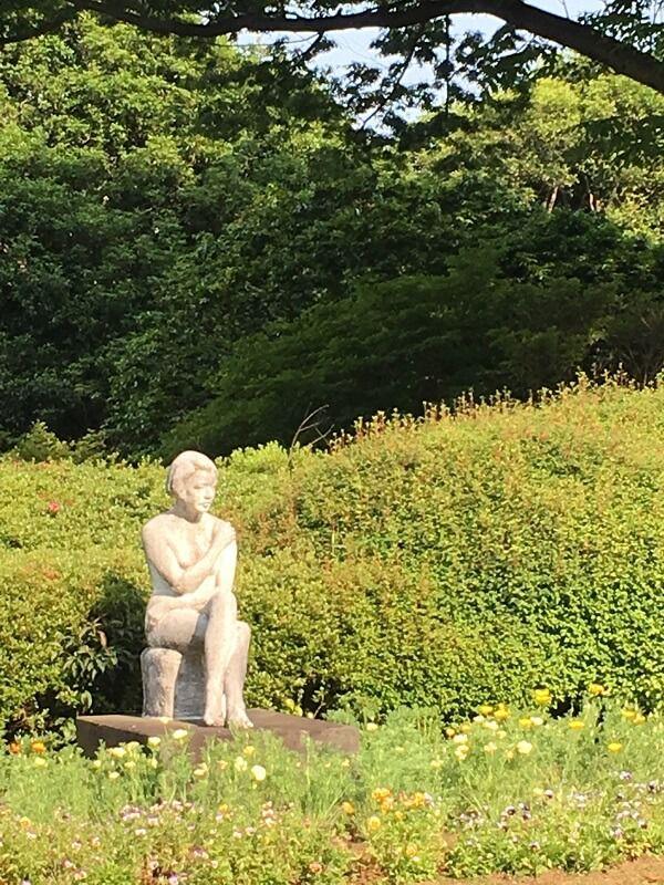 神代植物公園_女と花2