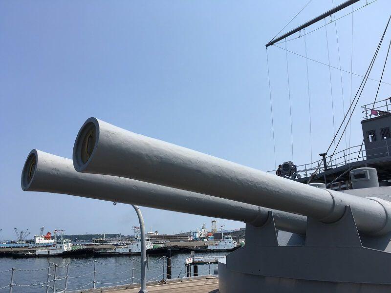 戦艦三笠_30センチ前部主砲