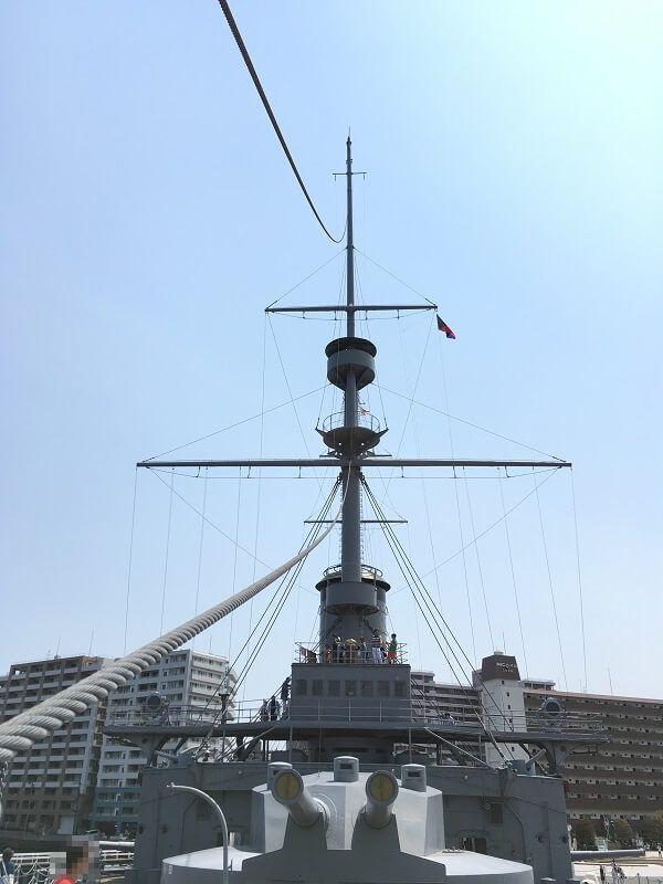 戦艦三笠_前方からの眺め