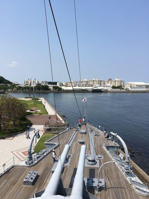 戦艦三笠_最上艦橋からの眺め