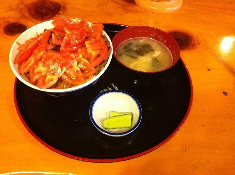 下呂温泉 廣司 飛騨牛のトマト丼