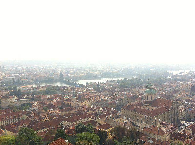 チェコ プラハ プラハ城 聖ヴィート大聖堂 屋上からの景色1