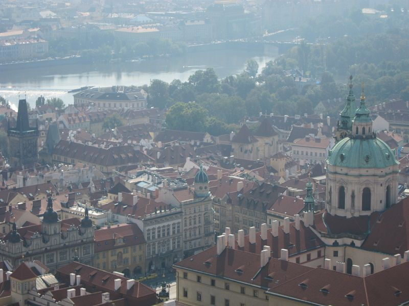 チェコ プラハ プラハ城 聖ヴィート大聖堂 屋上からの景色2