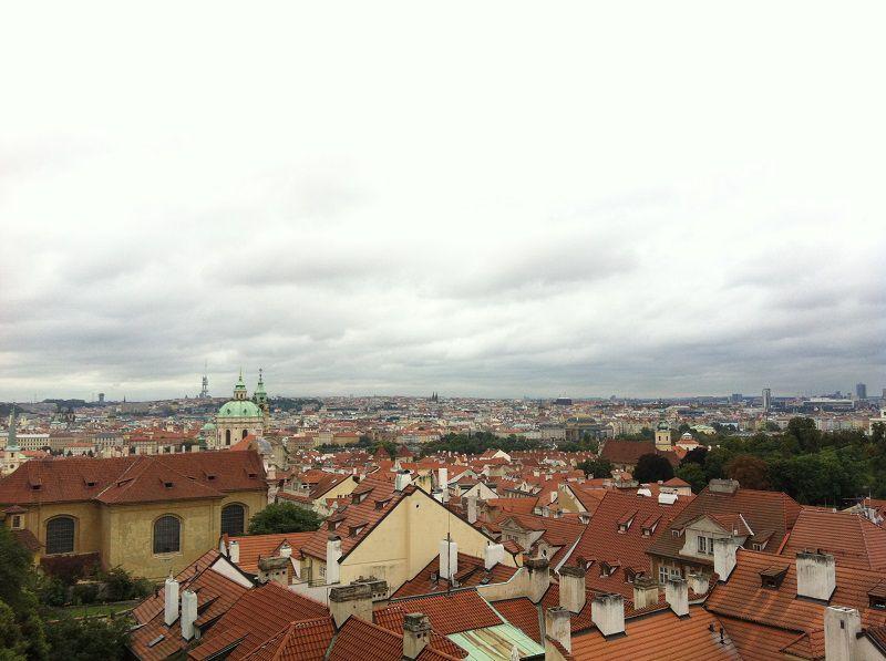 チェコ プラハ プラハ城 坂からの景色