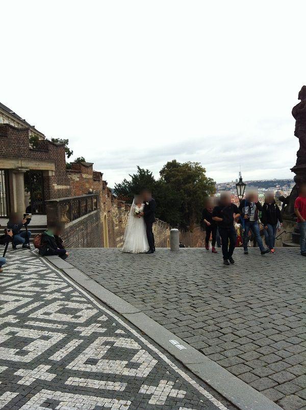 チェコ プラハ プラハ城 ウェディングドレス撮影2