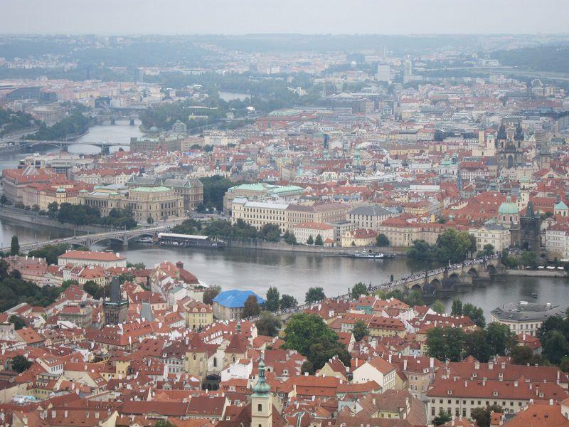 チェコ プラハ ペトシーンの丘からの景色2