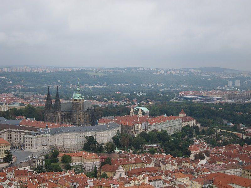 チェコ チェコ プラハ ペトシーンの丘からの景色3