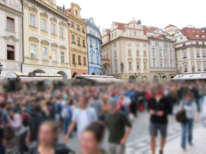 チェコ プラハ 旧市街 天文時計前