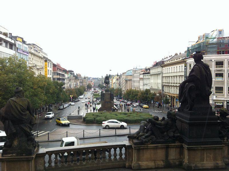 チェコ プラハ ヴァーツラフ広場