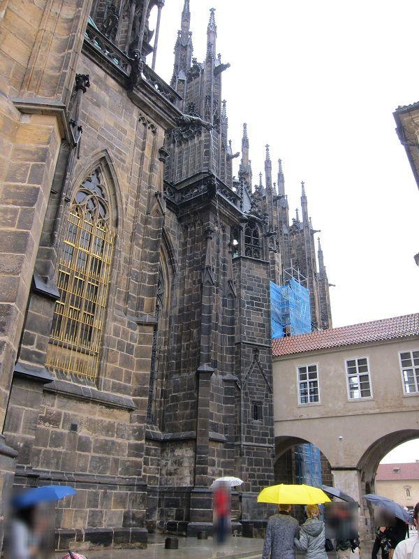 チェコ プラハ プラハ城 雨