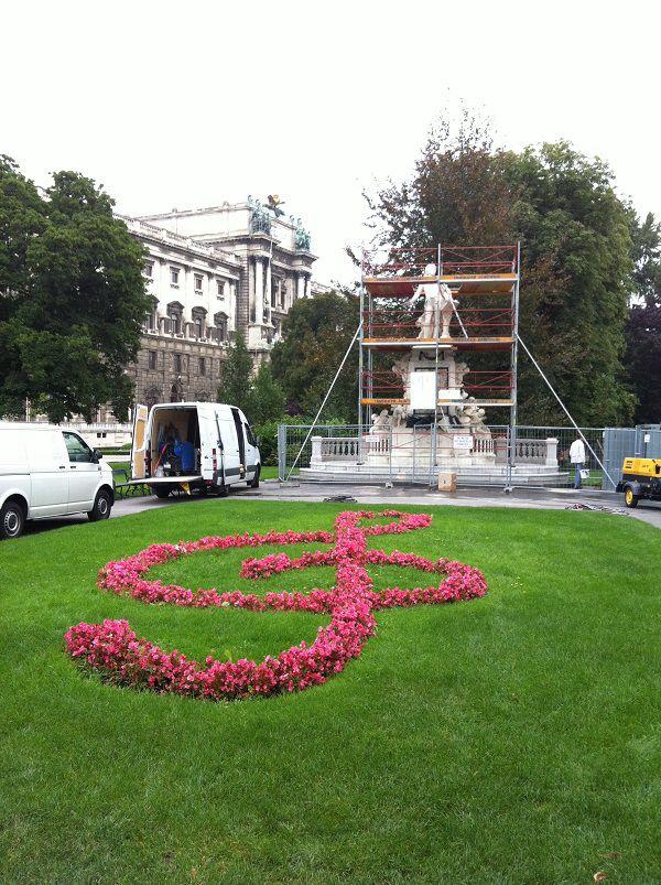 オーストリア ウィーン モーツァルト像