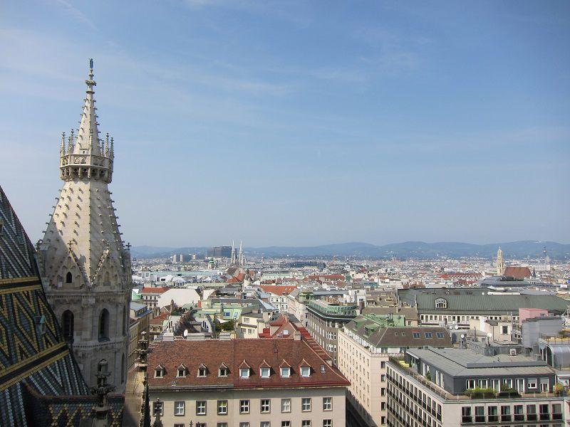 オーストリア ウィーン シュテファン大聖堂からの景色1