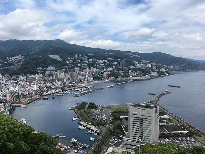 熱海城 天守閣展望台からの景色
