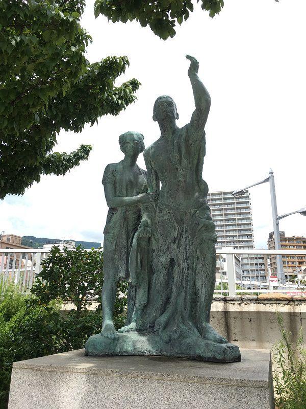 熱海 釜鳴屋平七の銅像