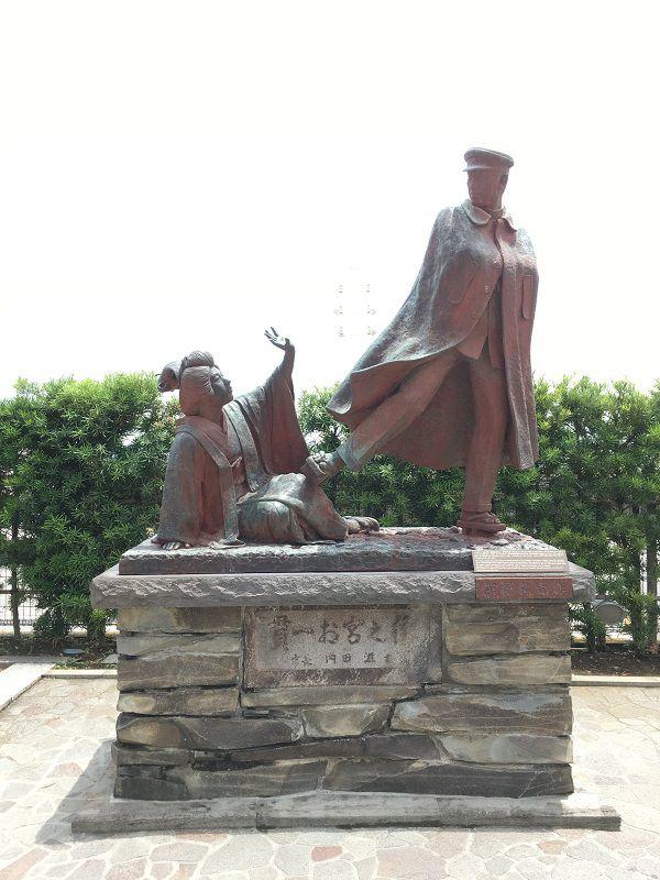 熱海 貫一お宮の銅像