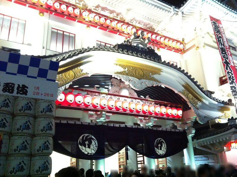 歌舞伎座 夜