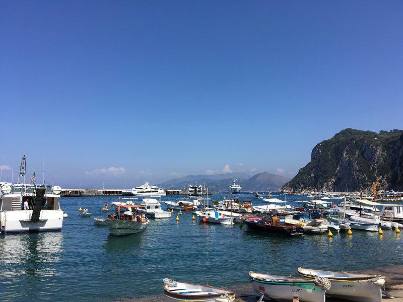 イタリア カプリ島 マリーナ・グランデ 港