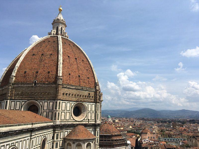 イタリア フィレンツェ ドゥオーモ ジョットの鐘楼からの眺め1