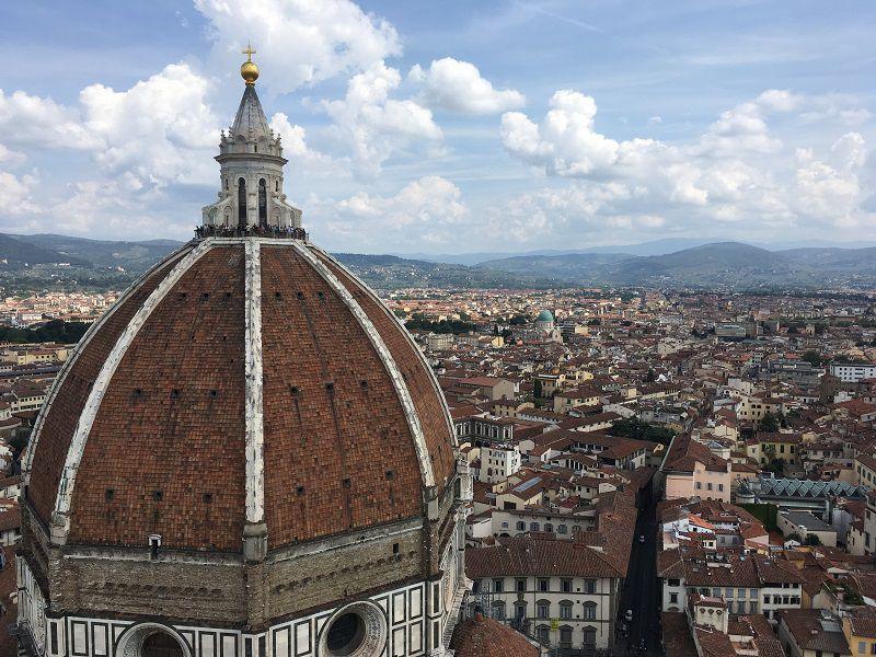 イタリア フィレンツェ ドゥオーモ ジョットの鐘楼からの眺め2