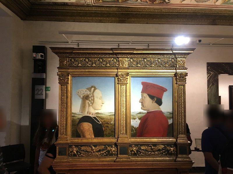 イタリア フィレンツェ ウフィツィ美術館 ウルビーノ公夫妻の肖像