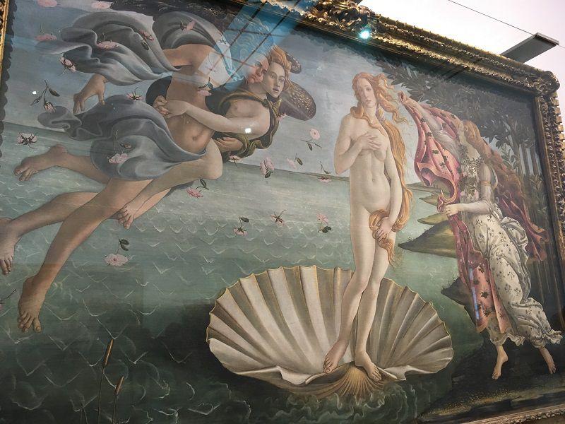 イタリア フィレンツェ ウフィツィ美術館 ヴィーナスの誕生