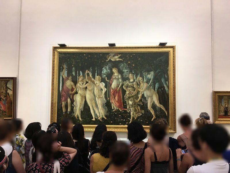 イタリア フィレンツェ ウフィツィ美術館 春(プリマヴェーラ)