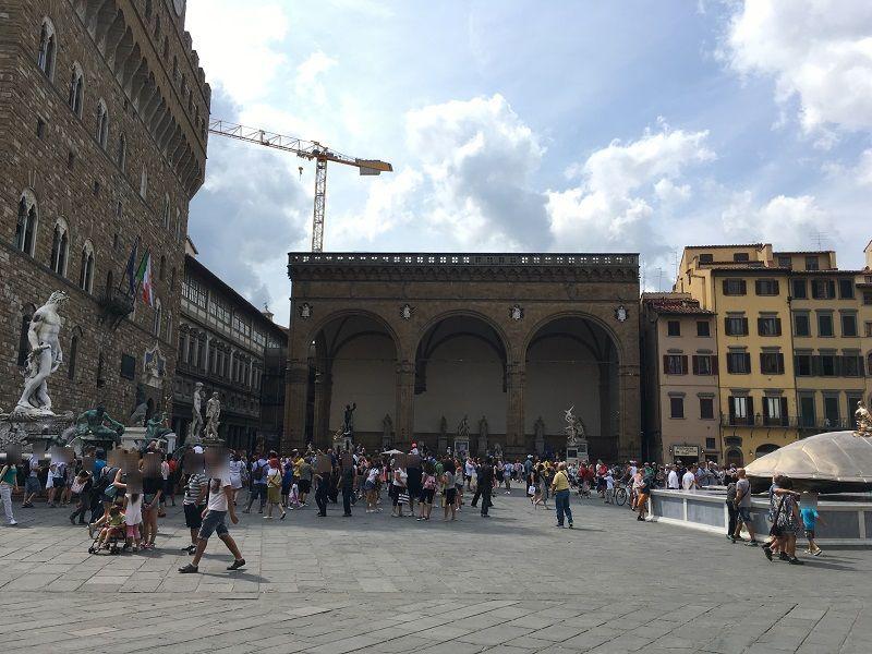 イタリア フィレンツェ シニョリーア広場