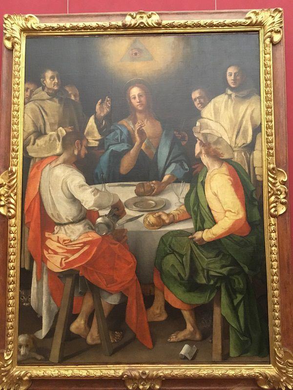 イタリア フィレンツェ ウフィツィ美術館 エマオの晩餐