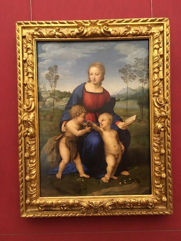 イタリア フィレンツェ ウフィツィ美術館 ひわの聖母
