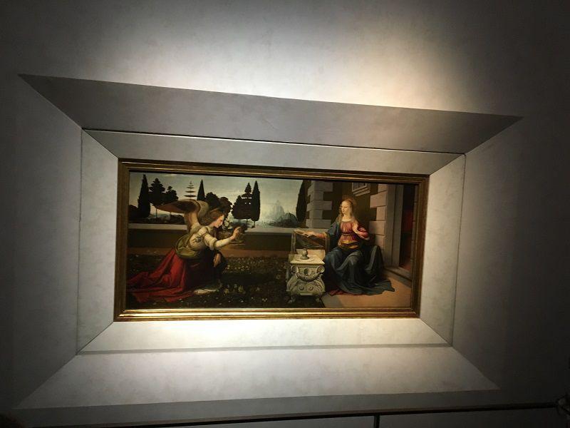 イタリア フィレンツェ ウフィツィ美術館 受胎告知