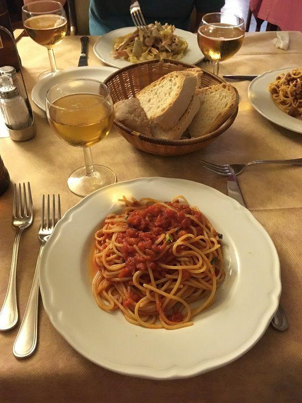 イタリア フィレンツェ ホテル デルタ フローレンス(Hotel Delta Florence) レストラン パスタ