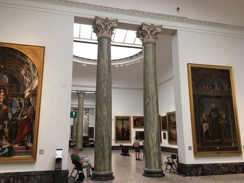 イタリア ミラノ ブレラ美術館内