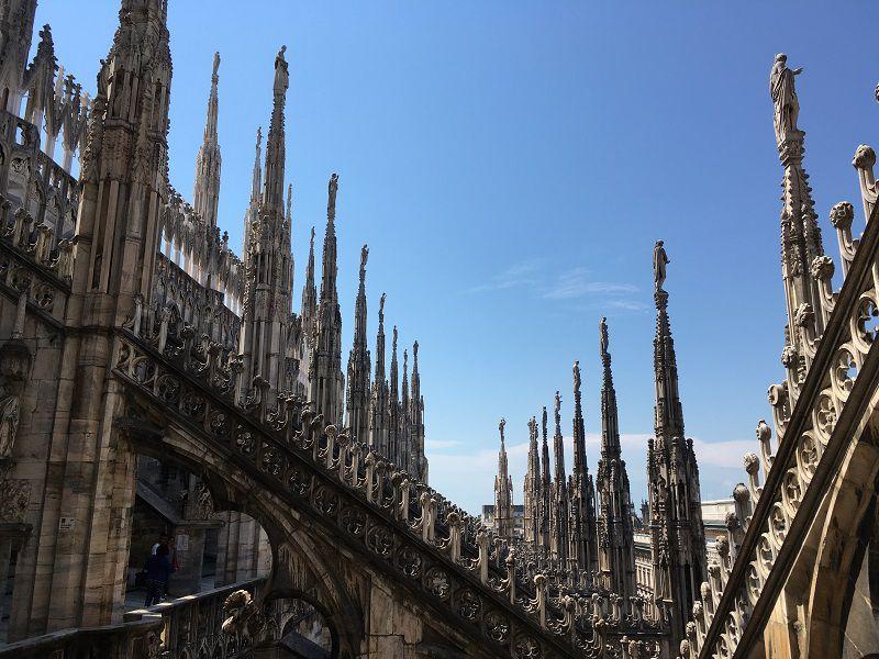 イタリア ミラノ ドゥオーモ 屋上1