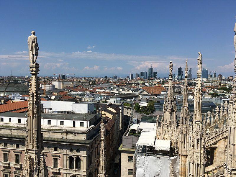 イタリア ミラノ ドゥオーモ 屋上からの眺め1