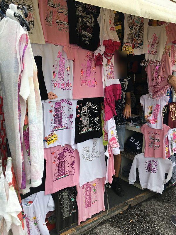 イタリア ピサの斜塔 スヌーピーTシャツ
