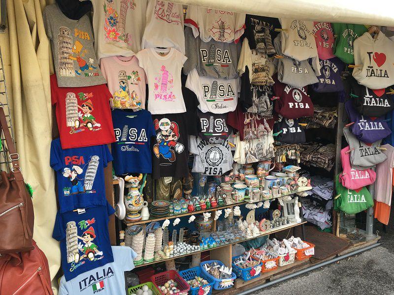 イタリア ピサの斜塔 マリオTシャツ