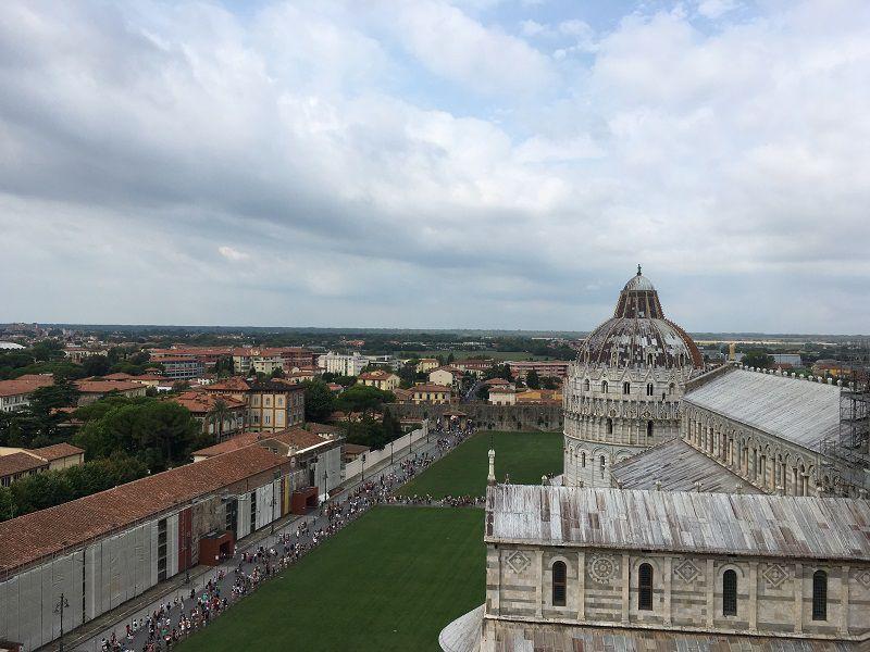 イタリア ピサの斜塔 屋上からの眺め