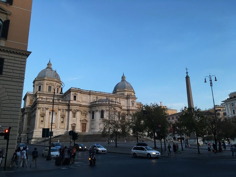 イタリア ローマ サンタ・マリア・マッジョーレ大聖堂 裏側