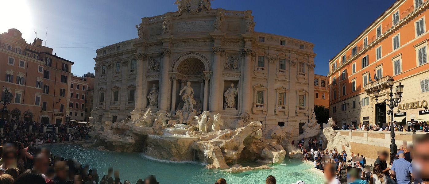 イタリア ローマ トレヴィの泉 パノラマ撮影