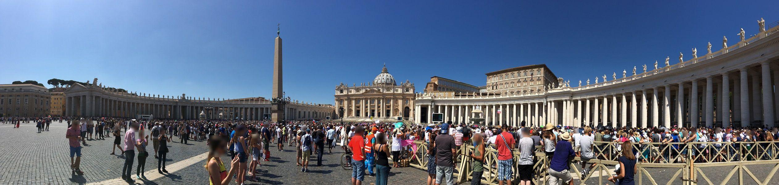 イタリア ローマ バチカン市国 パノラマ撮影