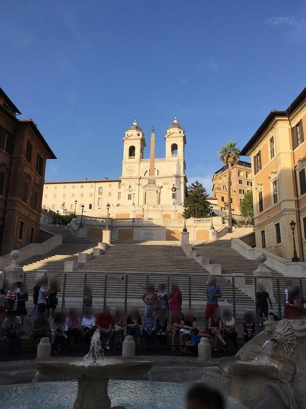 イタリア ローマ スペイン広場 階段
