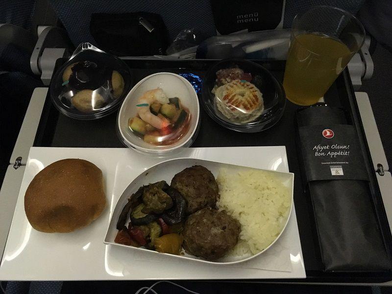 ターキッシュ エアラインズ(トルコ航空) 機内食
