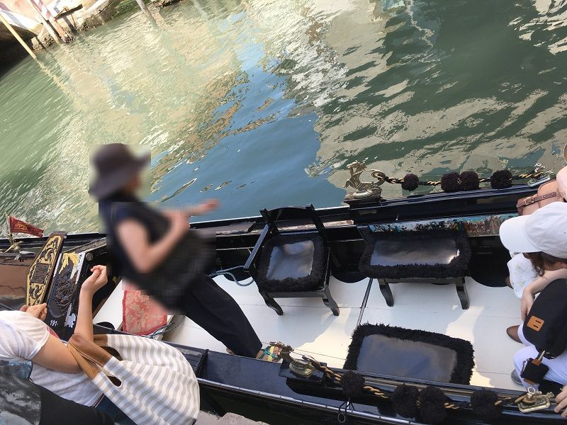 イタリア ヴェネツィア 乗船ゴンドラ
