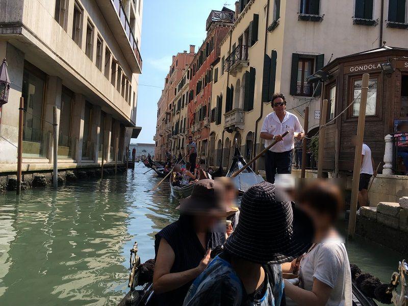 イタリア ヴェネツィア ゴンドラからの眺め2