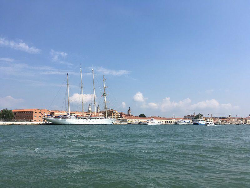 イタリア ヴェネツィア 船からの眺め1
