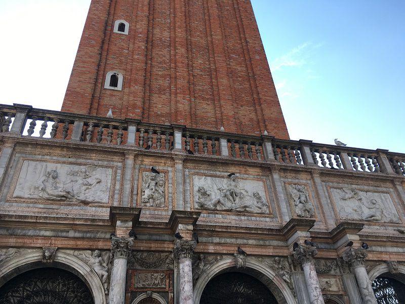 イタリア ヴェネツィア 大鐘楼 鳥類の格差