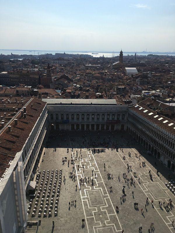 イタリア ヴェネツィア 大鐘楼からの眺め サン・マルコ広場