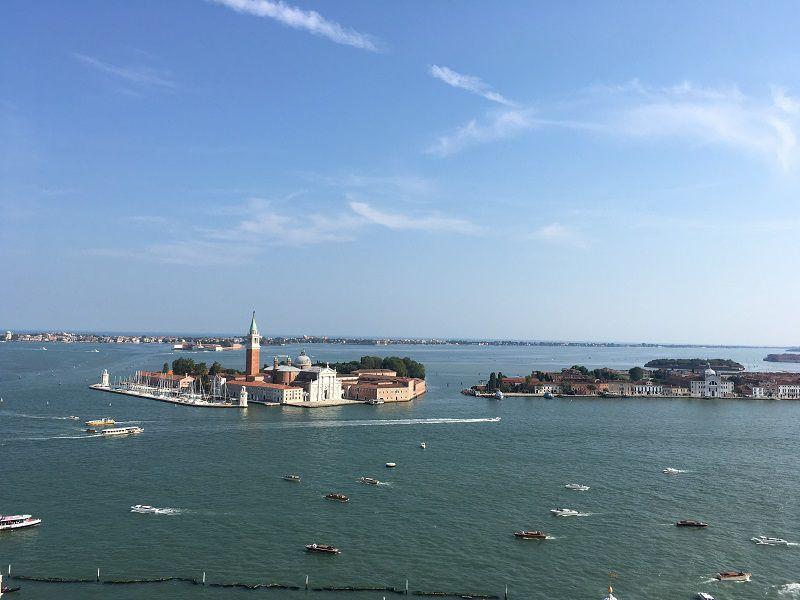 イタリア ヴェネツィア 大鐘楼からの眺め サン・ジョルジョ・マッジョーレ島