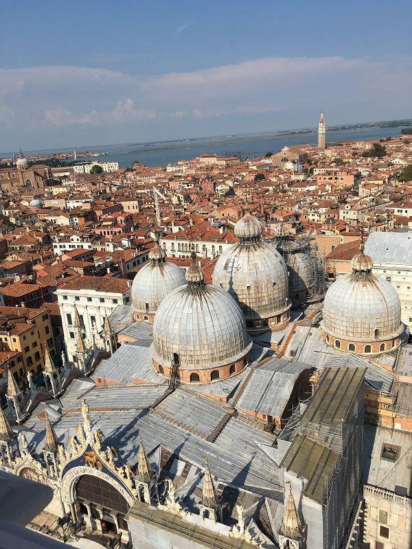 イタリア ヴェネツィア 大鐘楼からの眺め サン・マルコ寺院