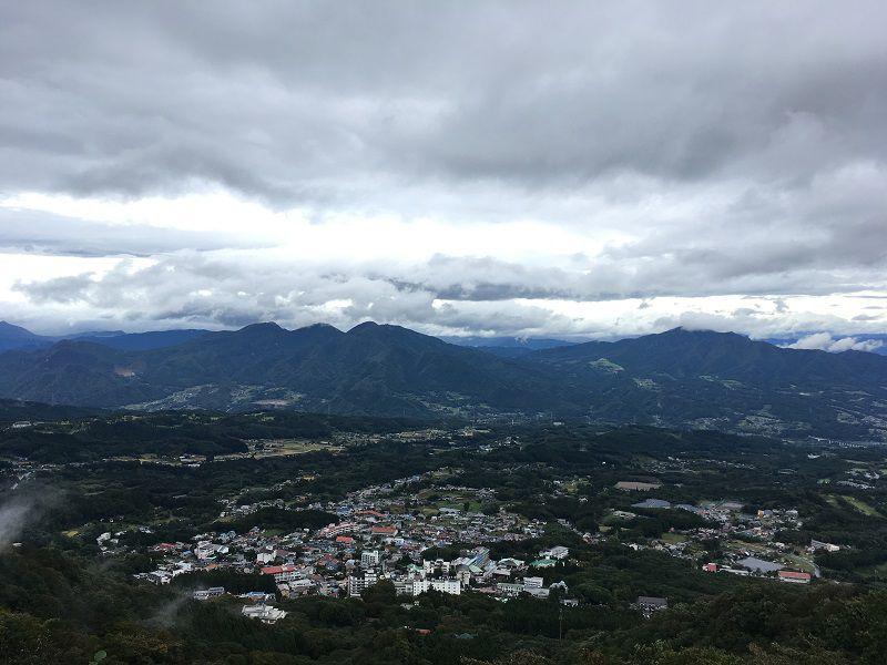 伊香保温泉 上ノ山公園 ときめきデッキ 展望台 眺め2